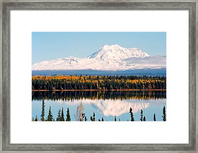 Autumn View Of Mt. Drum - Alaska Framed Print by Juergen Weiss