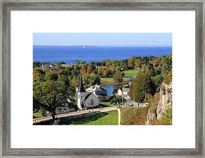 Autumn View On Mackinac Island Framed Print