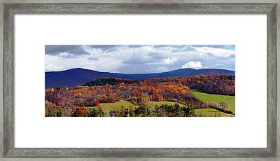 Autumn View Toward Mount Greylock Framed Print