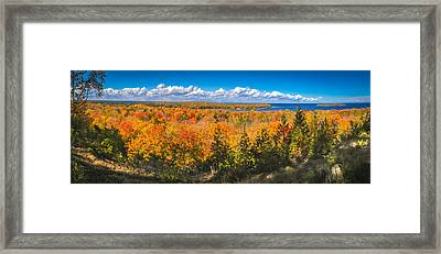 Framed Print featuring the photograph Autumn Vistas Of Nicolet Bay by Mark David Zahn Photography