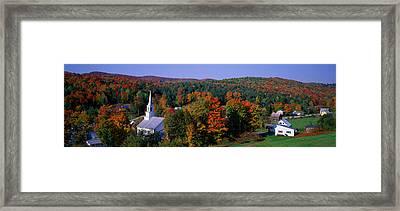 Autumn, Waits River, Vermont, Usa Framed Print