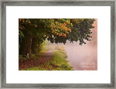 Autumn Walk Framed Print by Julie Palyswiat