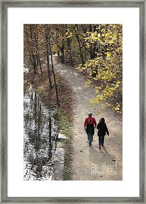 Autumn Walk On The C And O Canal Towpath Framed Print by William Kuta
