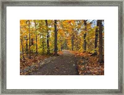Autumn Walk Framed Print by Robin Konarz