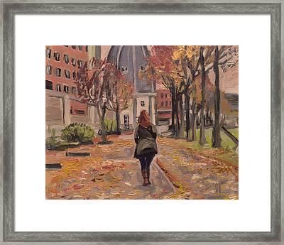 Autumn Walk To The Bonnefanten Framed Print by Nop Briex