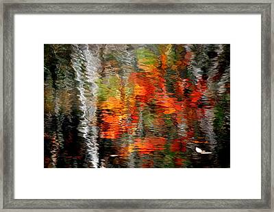 Autumn Water Colors Framed Print by Frozen in Time Fine Art Photography