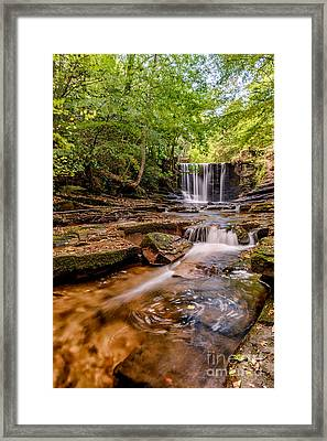 Autumn Waterfall Framed Print by Adrian Evans