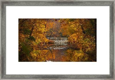 Autumn Waterfall Framed Print by Jen Morrison