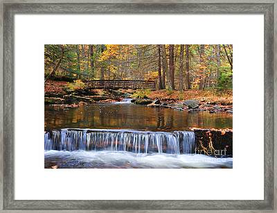 Autumn Waterfalls Framed Print by Paul Ward