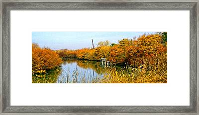 Autumn Weekend On The Delta Framed Print by Joseph Coulombe