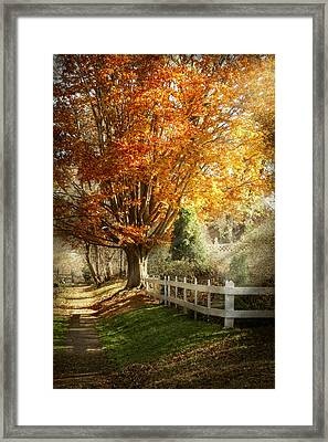 Autumn - Westfield Nj - I Love Autumn Framed Print by Mike Savad