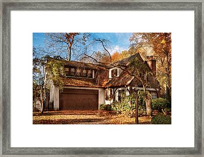 Autumn - Westfield Nj - Lost In The Woods Framed Print by Mike Savad