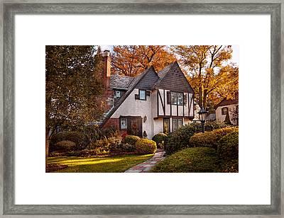 Autumn - Westfield Nj - Visting Grandpa's  Framed Print by Mike Savad