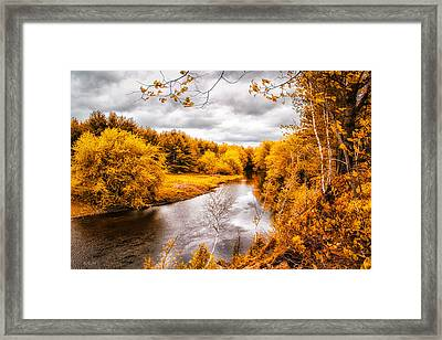 Autumn White Mountains Maine Framed Print by Bob Orsillo