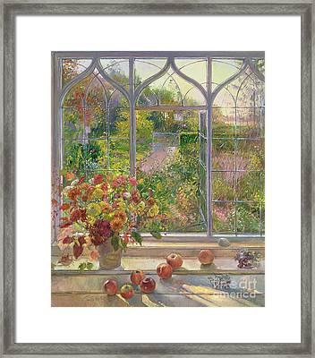 Autumn Windows Framed Print by Timothy  Easton