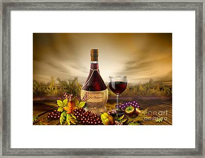 Autumn Wine Framed Print by Bedros Awak