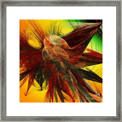 Autumn Wings Framed Print by Andee Design