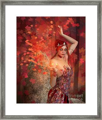 Autumn Witch Framed Print