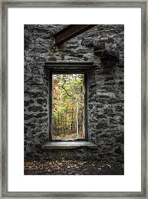 Autumn Within Cunningham Tower - Historical Ruins Framed Print