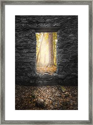 Autumn Within Long Pond Ironworks - Historical Ruins Framed Print by Gary Heller