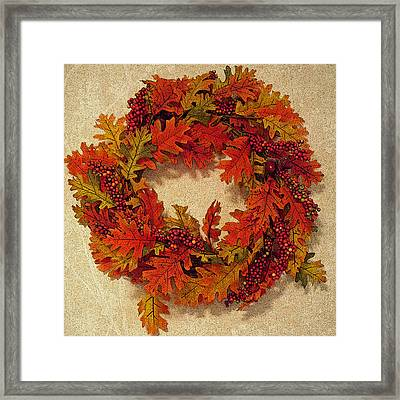 Autumn Wreath Framed Print by Aimee L Maher Photography and Art Visit ALMGallerydotcom