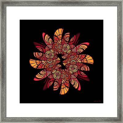 Autumn Wreath Framed Print