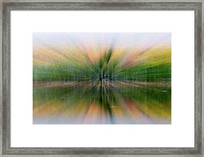 Autumnal Colors Burst Forward Framed Print by Robbie George