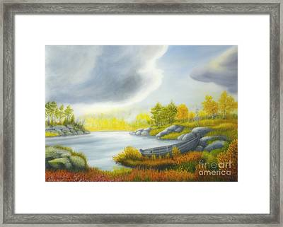 Autumnal Landscape Framed Print by Veikko Suikkanen