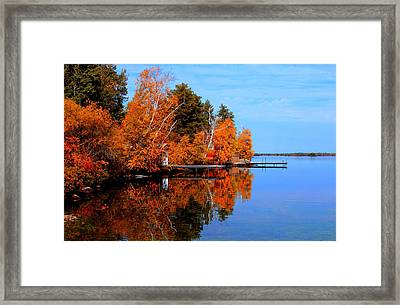 Autumnal Reflections Framed Print by Larry Trupp