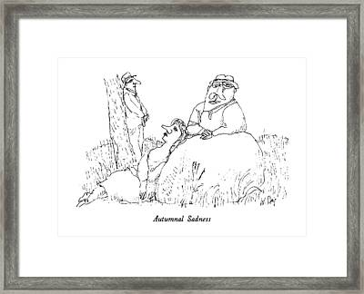 Autumnal Sadness Framed Print