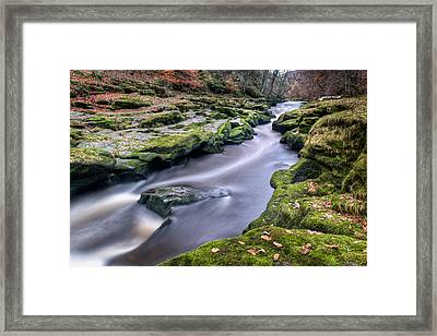 Autumnal Strid Framed Print by Chris Frost