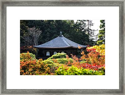 Autumnal Temple - Ginkaku-ji - Temple Of The Silver Pavilion In Kyoto Japan Framed Print