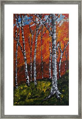 Autumnforest Framed Print by Zeke Nord