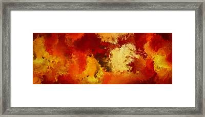 Autumn's Abstract Beauty Framed Print by Lourry Legarde