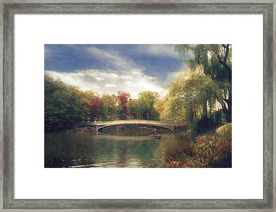 Autumn's Afternoon In Central Park Framed Print by John Rivera