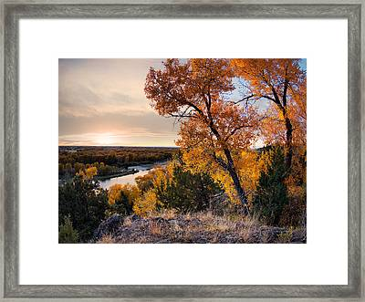 Autumns Best Framed Print by Leland D Howard