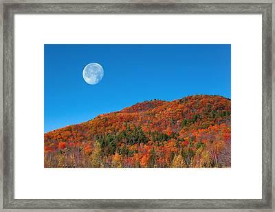 Framed Print featuring the photograph Autumn's Big Moon  by Larry Landolfi