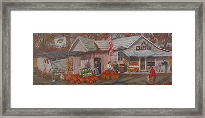 Framed Print featuring the painting Autumn's Charm by Tony Caviston