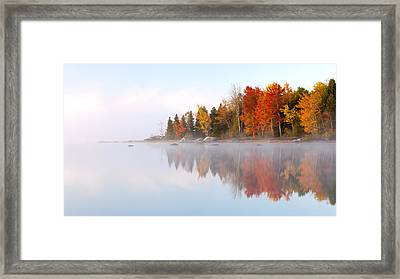 Autumn's Color Show Framed Print