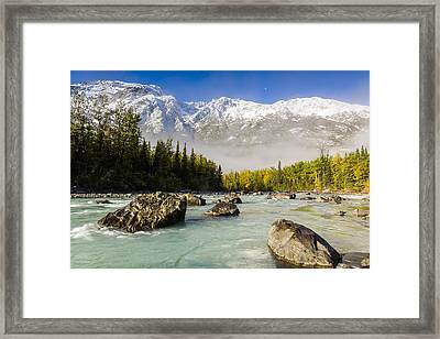 Autumns Colors Contrast With Winters Framed Print