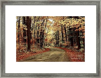 Autumns Dressing Framed Print