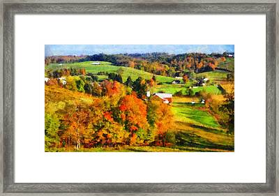 Autumn's Glory Enters The Ohio Valley Framed Print by Dan Sproul
