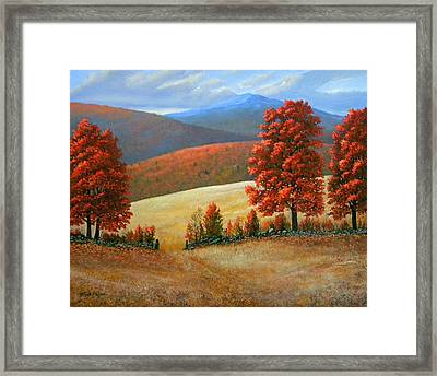 Autumns Glory Framed Print