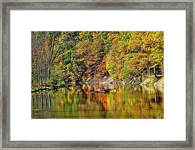 Autumns Glow Framed Print by Frozen in Time Fine Art Photography