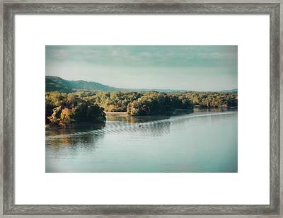 Autumn's Knocking On The Door - River Scene Framed Print