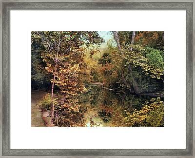 Autumn's Mirror Framed Print by Jessica Jenney