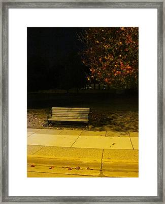 Autumn's Nocturnal Solace Framed Print by Guy Ricketts