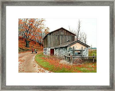 Autumn's Past Time  Framed Print
