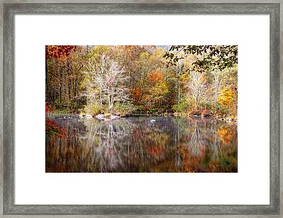Autumn's Peak Framed Print