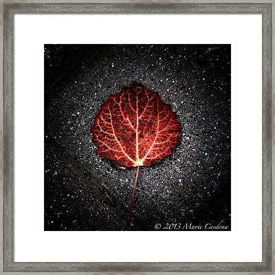Autumn's Pulse I Framed Print by Marie  Cardona